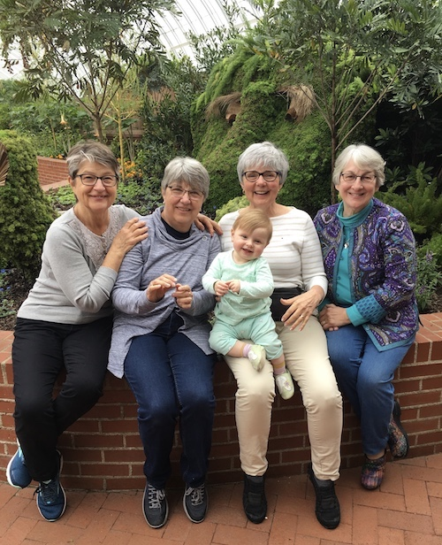 Tina, Mary, and Gloria traveled to Pittsburgh and made Lydia and me very happy.